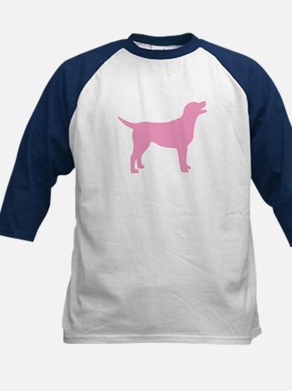 pink labrador retriever Kids Baseball Jersey