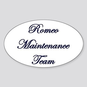 Romeo Maintenance Oval Sticker