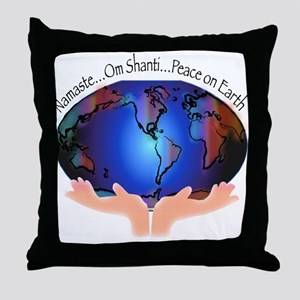 Om Shanti, Peace in the World Throw Pillow