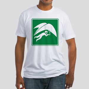 Hang Gliding Sign Fitted T-Shirt