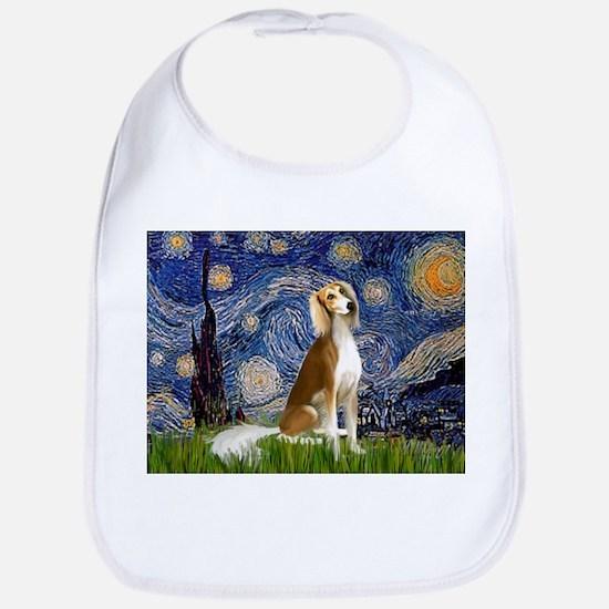 Starry Night & Saluki Bib