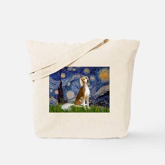 Starry Night & Saluki Tote Bag