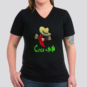 Cinco de Mayo Women's V-Neck Dark T-Shirt
