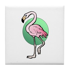 Animal Art Flamingo Tile Coaster