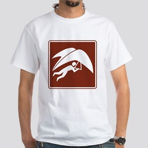Hang Gliding Sign White T-Shirt