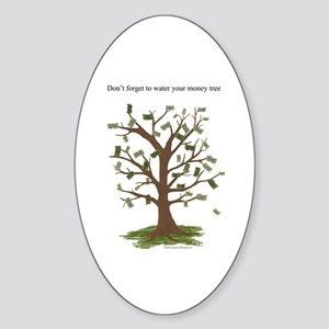 Water Your Money Tree Oval Sticker
