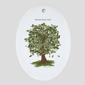 Interest Bears Fruit Oval Ornament