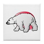 Animal Art Polar Bear Tile Coaster
