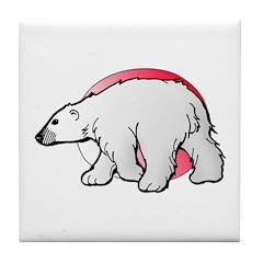 Animal Art Polar Bear Tile Coaster