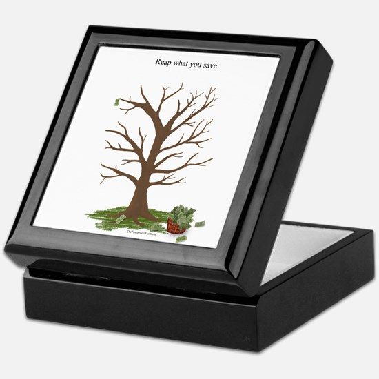 Reap What You Save Money Tree Keepsake Box
