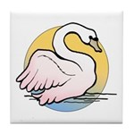 Animal Art Swan Tile Coaster
