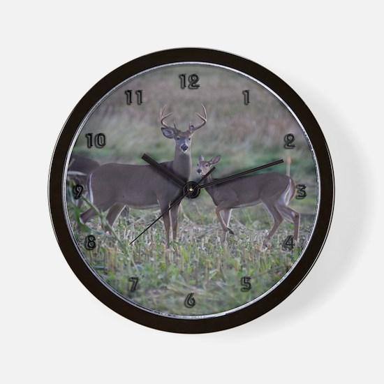 Buck and doe 2 Wall Clock