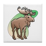 Animal Art Moose Tile Coaster