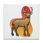 Animal Art Deer Tile Coaster