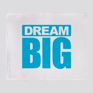 Dream Big - Blue Throw Blanket