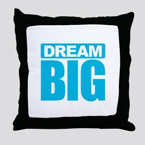 Dream Big - Blue Throw Pillow