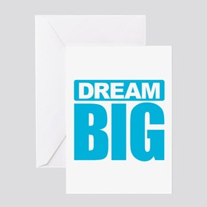 dream big blue greeting cards - Big Greeting Cards