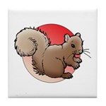 Animal Art Squirrel Tile Coaster