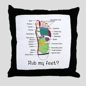 foot 1 Throw Pillow