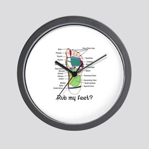 foot 1 Wall Clock