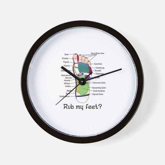 foot 1 Wall Clock