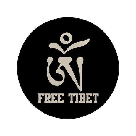 Tibetan Om Symbol 35 Button By Esangha
