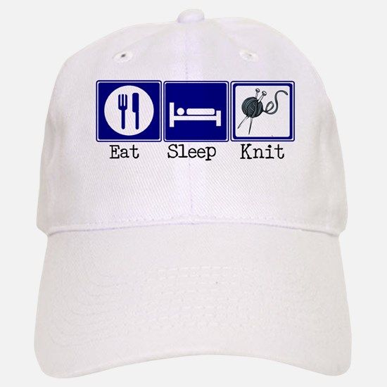 Eat, Sleep, Knit Baseball Baseball Cap