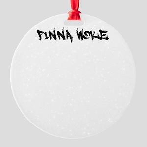 finna woke Round Ornament