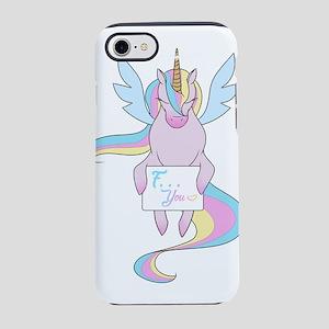 Rude unicorn iPhone 8/7 Tough Case