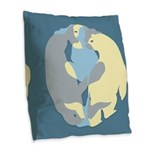 Spirit Of The North Gifts Burlap Throw Pillow