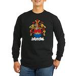 Precht Family Crest Long Sleeve Dark T-Shirt