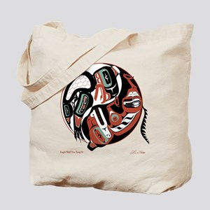 Eagle Wolf Yin-Yang Tote Bag