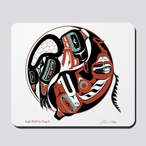 Eagle Wolf Yin-Yang Mousepad