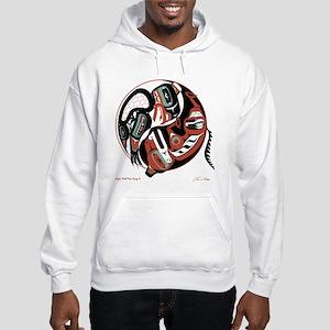 Eagle Wolf Yin-Yang Hooded Sweatshirt