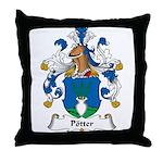 Potter Family Crest Throw Pillow