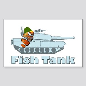Fish Tank Rectangle Sticker