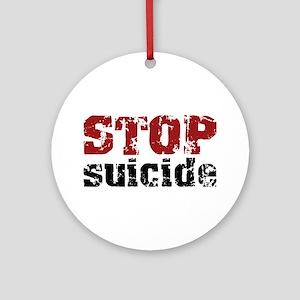 STOP Suicide Ornament (Round)