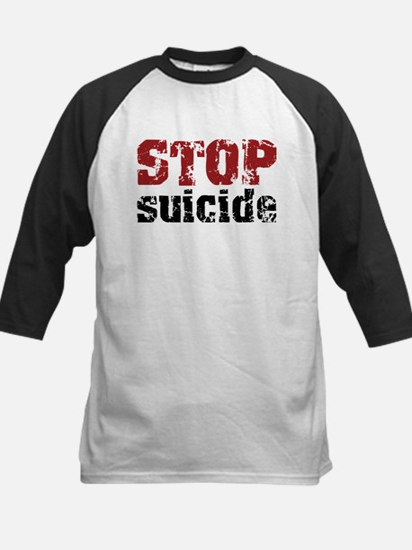 STOP Suicide Kids Baseball Jersey