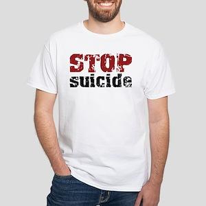 STOP Suicide White T-Shirt