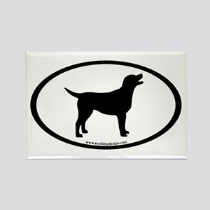 labrador retriever oval Rectangle Magnet