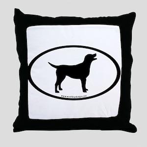 labrador retriever oval Throw Pillow