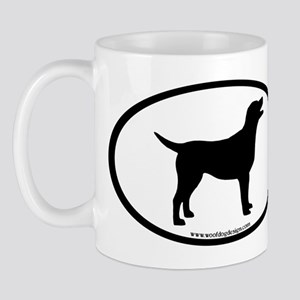 labrador retriever oval Mug