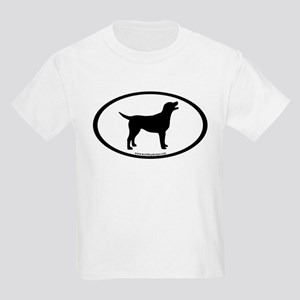 labrador retriever oval Kids Light T-Shirt