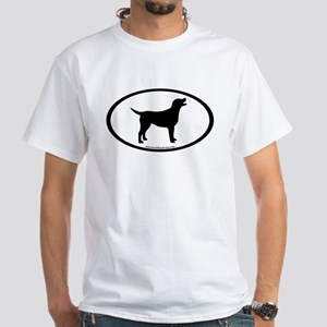 labrador retriever oval White T-Shirt