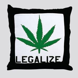 Legalize Marijuana Throw Pillow