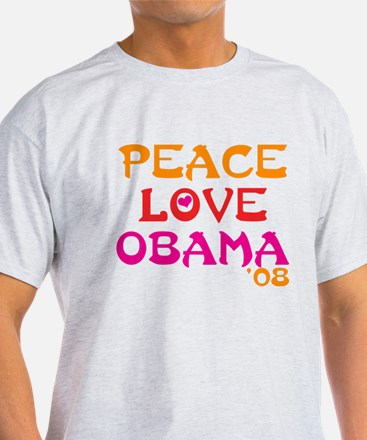 Peace, Love, Obama T-Shirt