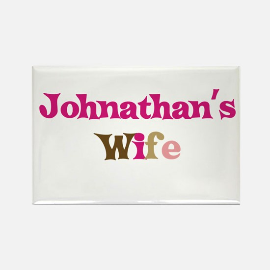 Johnathan's Wife Rectangle Magnet