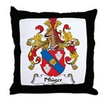 Pfluger Family Crest Throw Pillow