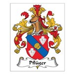 Pfluger Family Crest Small Poster