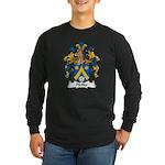 Pfeffer Family Crest Long Sleeve Dark T-Shirt